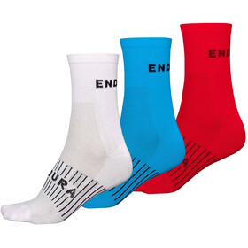 Endura Coolmax Race Socks 3-Pack Men, white